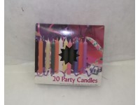 Chime Party Candles Black