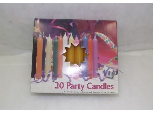 Chime Party Candles Orange