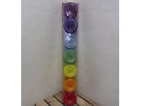 Crystal Journey Set of 7 Chakra Candles Herbal Reiki Charged Wicca