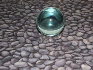 Aqua Obsidian Gazing Crystal Ball