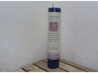 Crystal Journey Pillar Candle Good Health