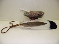 Sage White Smudge Kit Painted Eagle and Pheasant Feather fan