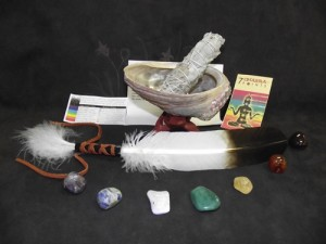 Chakra Smudge Kit with Feather