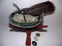 Smudge Kit 2 Shaman Cleansing Stones Remove Negativity